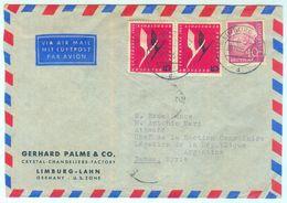 Nfr. 206 Paar MIF Luftpostbrief Aus Limburg Nach Syrien - Seltene Destination - [7] République Fédérale