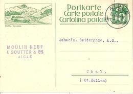 """PK 107  """"Furka / Belvédère""""  (offenes Postauto)            1926 - Entiers Postaux"""