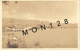 TAHITI - PAPEETE - PORT -  PHOTO CARTE ANCIENNE - PHOTOGRAPHE E.VALENTA PAPEETE (bateaux) - Polynésie Française