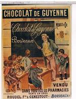 PHOTO  D'AFFICHE PUB DE CHOCOLAT  DE  GUYENNE   TBE  AU 630 - Posters