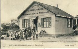 FONTAINE-LES-CLERES (Aisne) -- CAFE  BROUTIN - France
