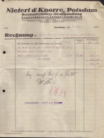 Potsdam - Rechnung Baumaterialien Großhandlung Fa Nieter & Knorre 1925 - Deutschland