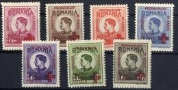 ROMANIA 1946   -  RED CROSS OVERPINT King Mihai, Service Of Prisoners Of War  FULL Series MNH, OG, VF - Neufs