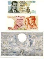 Belgique ARGENT - 3 Billets 20 Francs 1964 SUP / 50 Francs 1966 SUP / 100 Francs 1942 SUP. - Billets