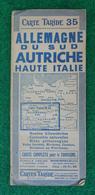 Carte Taride Numéro 35 - Allemagne Du Sud - Autriche - Haute Italie - Roadmaps