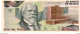 Mexico P.86 2000 Pesos 1989 Unc - Messico