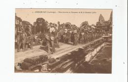 ANGKOR VAT (CAMBODGE) 5 FETES DONNEES EN L'HONNEUR DE M LE MARECHAL JOFFRE (ELEPHANTS) - Cambodia