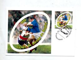 Carte Maximum 1999 Saint Denis Coupe Monde Rugby  Avec Carte Entiere Port Paye - Maximum Cards