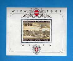(1)  Austria ** 1981- BF.10 - ESPOSIZIONE FILATELICA. WIPA 1981  MNH.  Vedi Descrizione. - Blocks & Kleinbögen