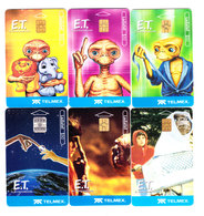 Mexico Phonecard LADATEL TELMEX  6 Cards Of E.T. The Extraterestrial No Credit Used - Mexico