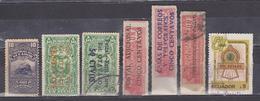 ECUADOR 1924-1986 STEAM LOCOMOTIVE TRAIN 7 DIFFERENT STAMPS OFFICIAL SERVICE INCLUDE USED SC# O201 RA44-45 - Ecuador