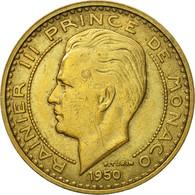 Monnaie, Monaco, Rainier III, 50 Francs, Cinquante, 1950, SUP, Aluminum-Bronze - Monaco