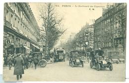 1926, France, 60c Sower, TPO Pmk, 1d GB Tax Mark. On Animated Street Scene Pc. - France