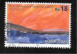 TIMBRE OBLITERE DE MAURICE DE 2017 - Mauritius (1968-...)