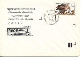 Czechoslovakia Cover With Special Postmark Boskovice 17-9-1989 Single Stamped BIRD - Czechoslovakia