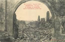 GUERRE 14 - 18 - GERBEVILLER - VUE PRISE DU FAUBOURG DE RAMBERVILLER - AOUT 1914 - Guerre 1914-18