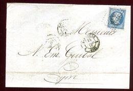 Lettre Avec Texte Commerciale ( Scan Intérieur Sur Demande ) De Marseille Pour Lyon En 1858 - Marcophilie (Lettres)