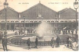 (45) Loiret - Orléans - La Place Albert 1er - La Gare - Orleans