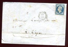 Lettre Avec Texte ( Scan Intérieur Sur Demande ) De Clermont Pour Gignac En 1857 - Marcophilie (Lettres)