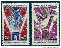 """FR YT 1571 & 1576 """" Armistice """" 1968 Neuf** - France"""