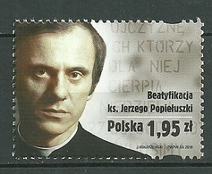 POLAND MNH ** 4209 Béatification Du Père Jerzy Popieluszko Aumonier Du Syndicat Solidarnosc - 1944-.... République