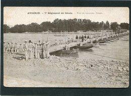 CPA - AVIGNON - 7è Régiment De Génie - Pont De Traversée - Parade, Animé - Manoeuvres
