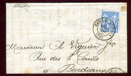 Lettre Avec Texte Commerciale ( Scan Intérieur Sur Demande ) De Gaillac Pour Bordeaux En 1878 - Storia Postale