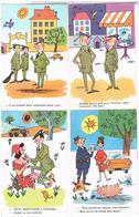 Lot  De 7 Cpm  HUMOUR  SOLDATS POLICIER COCHON COIFFEUR FAMILLE  CA351 - Humour