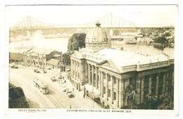 1940/50's? Australia, Brisbane, Custom House, Circular Quay. Real Photo Pc, Written Never Posted. - Brisbane