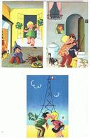 HUMOUR  5  CARTES  PORTE  BONHEUR  ET  SUPERTITION  N°32. 33.34. 35.36  TTBE  1G519 - Humour