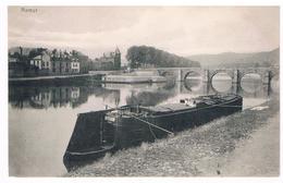 CPA Dos Non Divisé : NAMUR - Vue Vers La Meuse, Le Pont De Jambes, Les Bains, Une Péniche Le Long Du Quai Rive Gauche - Namur