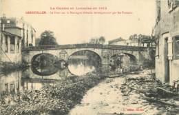 GUERRE 14-18 -  GERBEVILLIER - LE PONT SUR LA MORTAGNE DEFENDU HEROÏQUEMENT PAR LES FRANCAIS - CACHET 170 ème REGIMENT - Guerre 1914-18