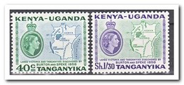 East African Community 1958, Postfris MNH, Map - Stamps