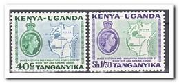 East African Community 1958, Postfris MNH, Map - Postzegels