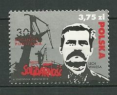 POLAND MNH ** 4213 LECH WALESA Anniversaire Du Syndicat Solidarnosc Prix Noble Président Gdansk - 1944-.... République