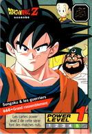 Carte 660 Dragon Ball Z Carddass 1996 Power Level Fr Le Grand Combat DBZ Son Goku Chichi Gyumao - Dragonball Z