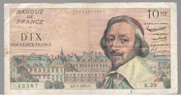 10 Francs Richelieu 2-7-1959 Bon état - 1959-1966 ''Nouveaux Francs''