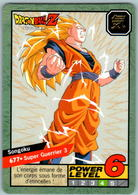 Carte 677 Dragon Ball Z Carddass 1997 Power Level Fr Le Grand Combat DBZ Son Goku - Dragonball Z