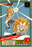 Carte 695 Dragon Ball Z Carddass 1997 Power Level Fr Le Grand Combat DBZ Vegeku Gotrunks - Dragonball Z
