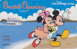 Télécarte Japon / 110-178692 - DISNEY STORE GO - MICKEY MINNIE Plage Drapeau Flag - Otsu1996 Japan Phonecard / 4000 - Disney