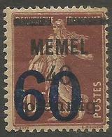 Memel (Klaipeda) - 1921 Sower Overprint 60pf/40pf/20c MH *   Mi 35  Sc 35 - Memel (1920-1924)