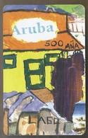 Telefoonkaart. ARUBA PHONE CARD. 91055A5. Now Trunking. 120 Units. SETAR. 120 Units. - Antilles (Netherlands)