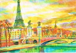 Poste Vaticane, Entier Postal, La Tour Eiffel, Notre Dame De Paris, Sacré Coeur. - Monuments