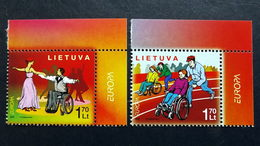 Litauen 902/3 **/mnh, EUROPA/CEPT 2006, Integration - Litauen