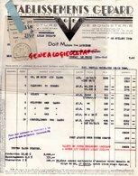 37 - VERNOU SUR BRENNE- FACTURE ETS. GERARD - EGER- MANUFACTURE BONNETERIE- USINE TOURCOING- 1953 - Textile & Vestimentaire
