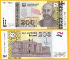 Tajikistan 200 Somoni P-21 2010 UNC - Tadjikistan
