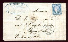 Lettre Avec Texte Commerciale ( Scan Intérieur Sur Demande ) De Nyons Pour Bligny En 1873 - 1849-1876: Classic Period