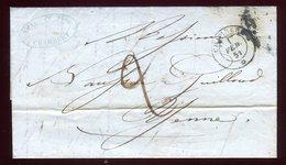 Lettre Avec Texte ( Scan Intérieur Sur Demande ) De Chambery Pour Yenne En 1851 - Marcophilie (Lettres)