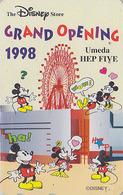 Télécarte Japon DISNEY STORE GO / 110-203547 - MICKEY Umeda 1998 Grande Roue Amusement Park - Japan Phonecard - ATT - Disney
