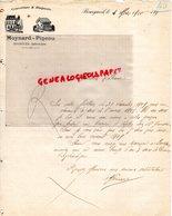 37 - BOURGUEIL - RARE LETTRE MANUSCRITE MOYNARD PINEAU- COUVERTURE ZINGUERIE-1910 - Petits Métiers